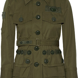 MARC JACOBS - SS2015 Embroidered Military Green Cotton Twill Jacket