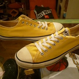 "converse - 「<used>90's converse ALLSTAR OX yellow""made in USA"" size:US8/h(27cm) 7800yen」販売中"
