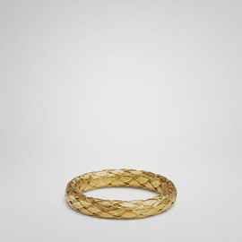 BOTTEGA VENETA - Yellow Gold Intrecciato Ring - Fine jewelry