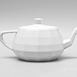 Unfold - Utanalog Teapot - 3d Model, printed as glazed.