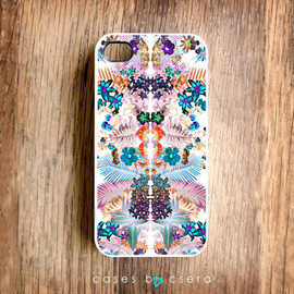 Cases By Csera - Kaleidoscope Pattern Unique iPhone Case, iPhone 4 Case Unique iPhone 4 Case Floral Case Cases By Csera iPhone 4 iPhone 4s, iPhone 4s Case