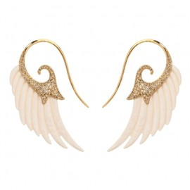 Mammoth Ivory Wing Earrings