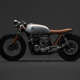 Honda - CB650 brat 'Leather Head'  by Oscar Axhede
