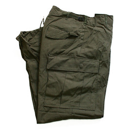 U.S. ARMY - jungle fatigue pants(rip stop poplin, OG)