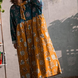 Loose Fitting dress - Women's Loose Fitting dress, Maxi Cotton dress, oversized long sleeves Dresses