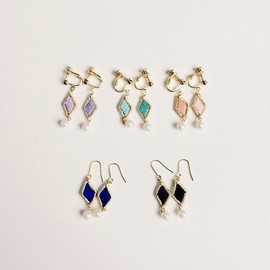 patterie - ♢stitched diamond pierce/earring♢