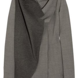 JIL SANDER - Draped Crepe-Twill Jacket