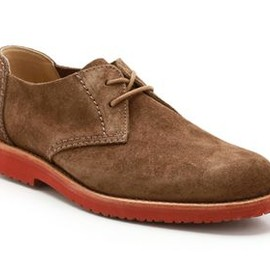 Clarks - Clarks Mens Casual Shoes Mead West Cola Suede