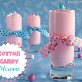 cotton candy - Cotton Candy Mousse from @katrinaskitchen -use any flavored syrup for shaved ice