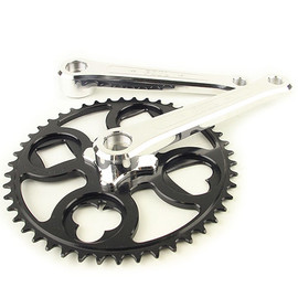 PAUL - 100% pure road crank (black/polish)