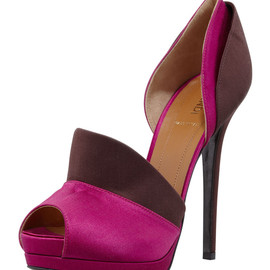 FENDI - Anemone Layered Satin d'Orsay Pump
