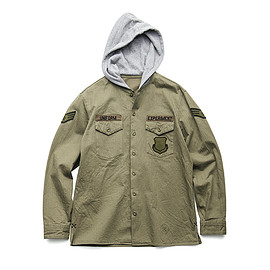 uniform experiment - HOODED UTILITY SHIRT