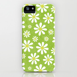 Society6 - DAISIES ON APPLE GREEN iPhone & iPod Case