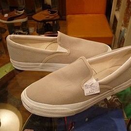 "converse - 「<deadstock>90's converse JACK PURCELL SLIP-ON beige""made in USA"" size:US11/h 10000yen」完売"