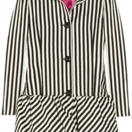 Moschino Cheap and Chic - Flared striped taffeta coat
