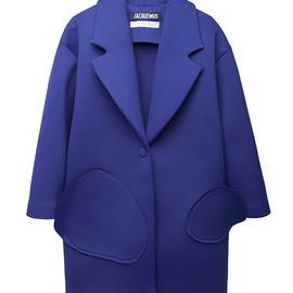 JACQUEMUS - Easy dimensionless like neoprene coat with pockets of different sizes