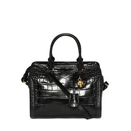 Alexander McQueen - SS2015 Stamped Crocodile Leather Small Padlock Zip Around