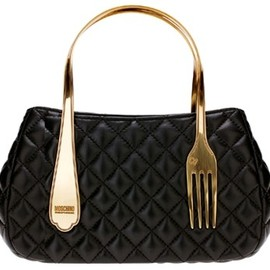 MOSCHINO - Cheap & Chic Fork Napa Bag