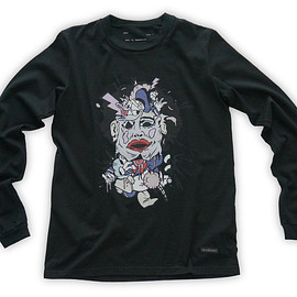 NADA. - Cartoon chainsaw massacre Long-sleeve tee / Black