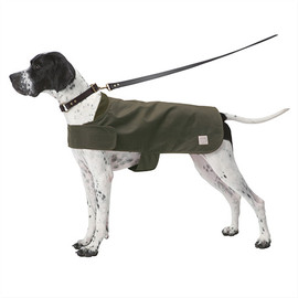 FILSON - The Shelter Cloth Dog Coat with Wool Lining in Otter Green