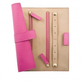 SMYTHSON - Small Jewellery Roll (Magenta)