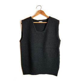 BLACK SIGN - Trapezoid Neck Sweater Vest