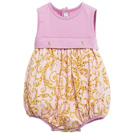 YOUNG VERSACE - Girls Purple & Gold Baroque Print Shortie