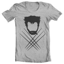 Wolverine and cross claws tee