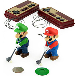 ThinkGeek - Mini Golfing Mario & Luigi