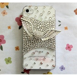 CASEMODA - New Bling Sparkle Chic Angel's Wings Rhinestones iPhone Case Cover