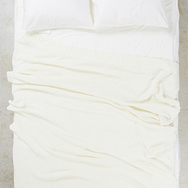 Priv. Spoons Club - CLUB KNIT BLANKET-WHITE