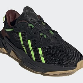 adidas, Pusha T - Ozweego - Black/Mystery Brown/Solar Green