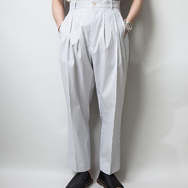 "HED MAYNER - ""4 PLEAT PANT"" (Pin Stripe)"