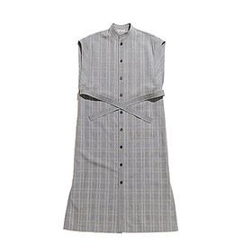 AURALEE - Summer Wool Glen Check One Piece-Glen Check