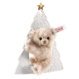 "Steiff - Lladró ornament Teddy bear ""雪のクリスマス"" EAN 677281 / 15cm"