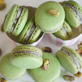 Pistachio Macarons - from Gourmet by Kat