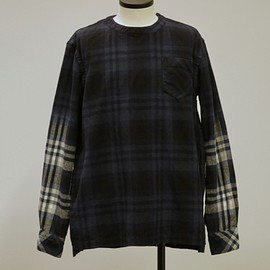 sacai - FLANNEL PLAID PULLOVER 17-01413M