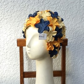 CABARET(Vintage&Used shop) - Vintage Swim Cap with Many Flowers