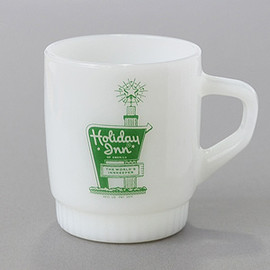 Fire King - Ribbed  HOLIDAY INN advertising mug