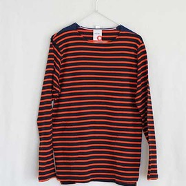 ACTS - 【ACTS】BOAT NECK L/S (navy/orange)