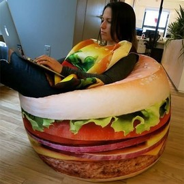 WOW! Works - Hamburger Bean Bag Chair
