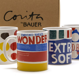 Bauer Pottery - CORITA WONDER BREAD MUGS - SET OF FOUR