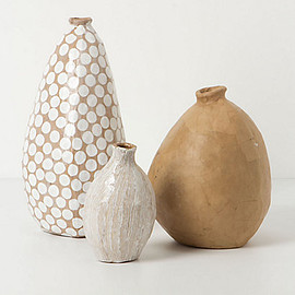 Anthropologie - Dotted Paper Vase