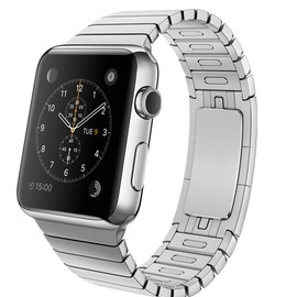 Apple - WATCH  42mm Stainless Steel Case with Stainless Steel Link Bracelet