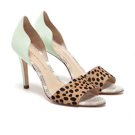 Loeffler Randall - heels/mint and leopard
