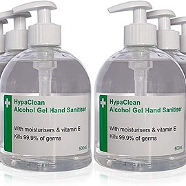 Safety First Aid Group - HypaClean Alcohol Hand Sanitiser Gel (500 ml) Pack of 6