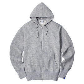 LOOPWHEELER - LW Extra light Zip up hoodie