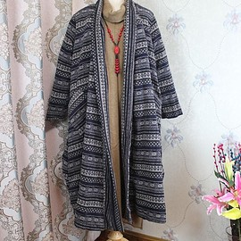 Wool maxi coat - No buckle long Wool overcoat, Blue loose Women Winter coat