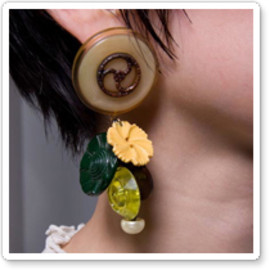 corchea - Button Earring
