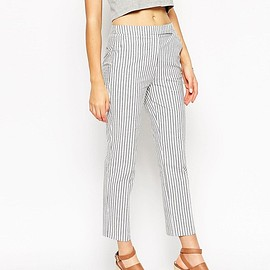 ASOS - Ankle Grazer Trouser in Seersucker Stripe